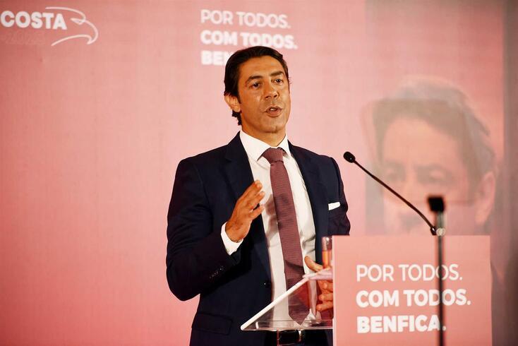 Rui Costa, candidato e atual presidente do Benfica