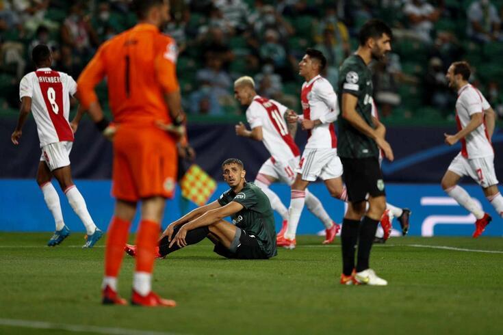 Sporting goleado em casa pelo Ajax