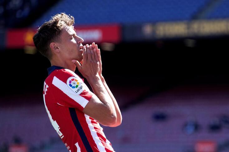 A desilusão de Marcos Llorente, jogador do Atlético