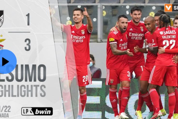 A vitória do Benfica diante do V. Guimarães: assista ao resumo do jogo
