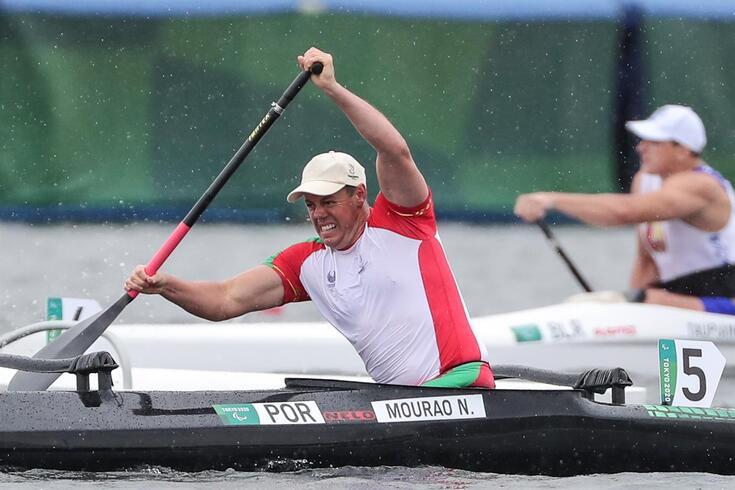 Norberto Mourão em ação nos Jogos Paralímpicos