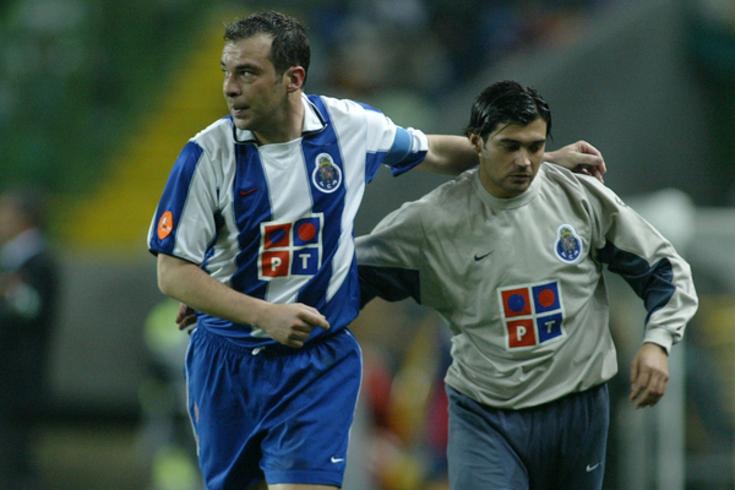 Jorge Costa e Sérgio Conceição jogaram dois anos e meio juntos no FC Porto