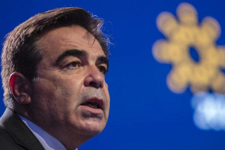 Margaritis Schinas, vice-presidente da Comissão Europeia para a promoção do modo de vida europeu.
