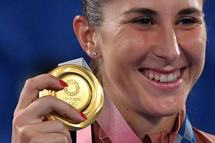 Belinda Bencic conquistou uma medalha de ouro nos Jogos Olímpicos Tóquio'2020