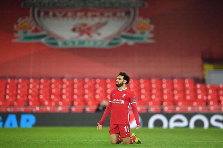 Salah bem tentou, mas não encontrou o caminho do golo