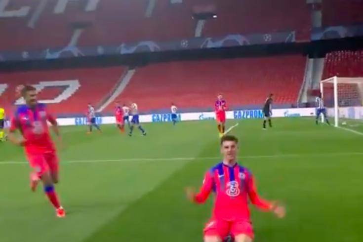 O golo de Mason Mount que abriu o marcador do FC Porto-Chelsea