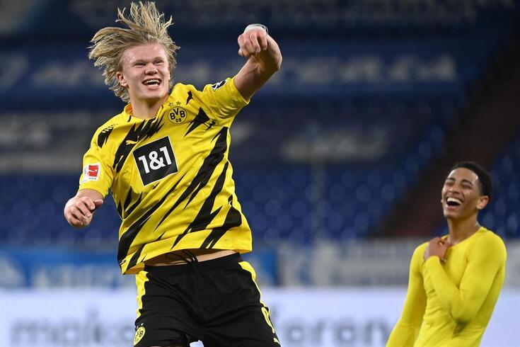 Haaland, goleador do Dortmund