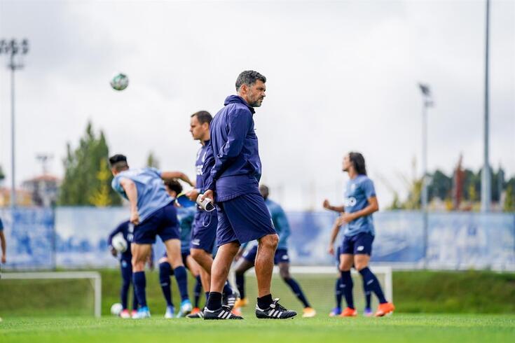 Sergio Conceição orientou mais uma sessão de treino