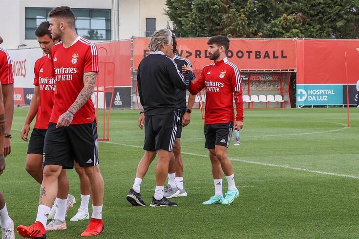 Depois de participar no Euro'2020, Rafa regressou aos treinos do Benfica