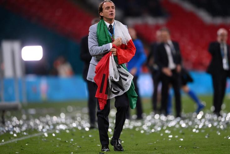 Roberto Mancini conduziu Itália à conquista do segundo título europeu