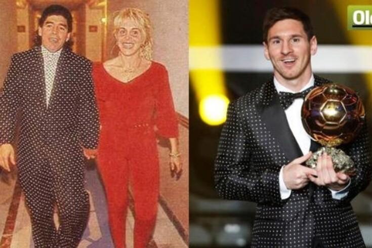 O fato às bolinhas de Messi