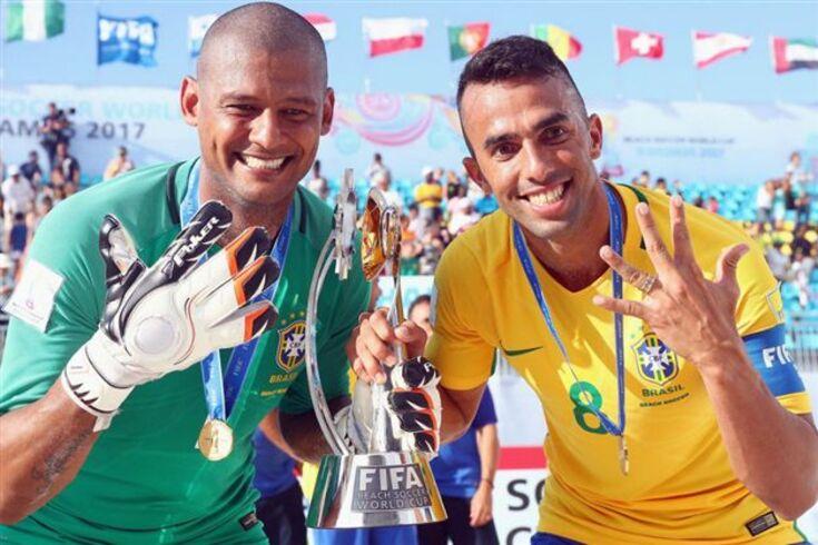 Brasil sucede a Portugal como campeão do Mundo de futebol de praia