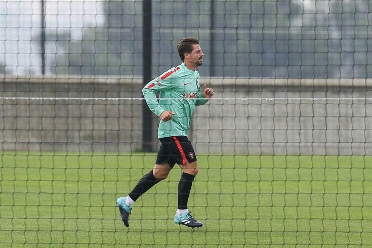 Portugal National team soccer player Adrien Silva during the training session at Cidade do Futebol near