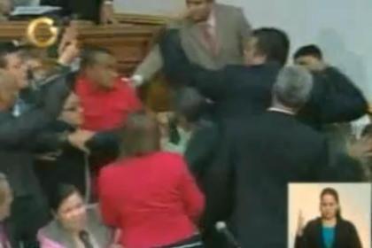 Pancadaria no parlamento venezuelano