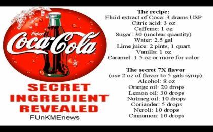 Rádio diz que descobriu a receita secreta da Coca-Cola