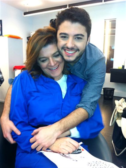 A apresentadora e o filho Rui Maria Pêgo