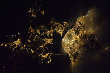 Lisboa fotografada pelo astronauta