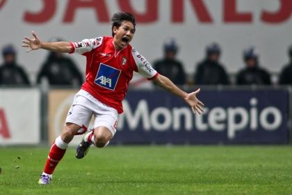 Mossoró festeja golo contra o Benfica