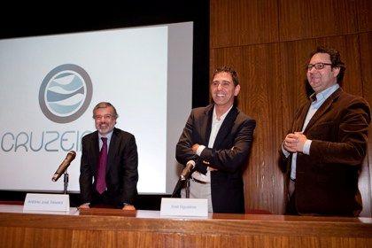 António José Teixeira, José Figueiras e Fernando Santos na apresentação do programa