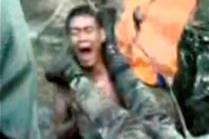 Soldados filipinos torturados durante a recruta