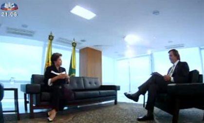 Mais de um milhão viu entrevista a Dilma Rousseff