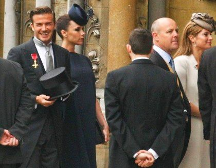 Beckham escolheram tons escuros para o casamento