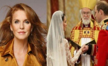 Sarah Ferguson ficou triste por não ir ao casamento