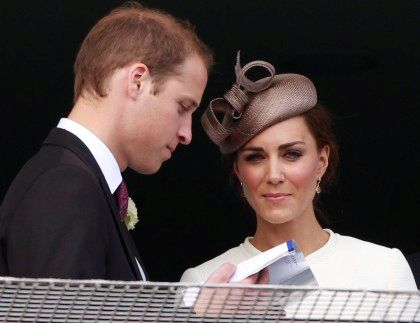 Príncipe William e Kate Middleton em corrida de cavalos