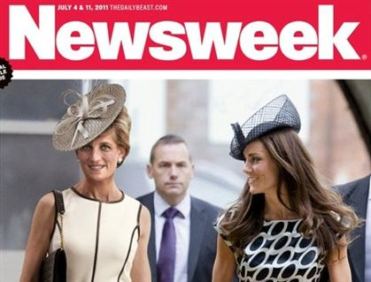 Princesa Diana e Kate Middleton juntas em revista