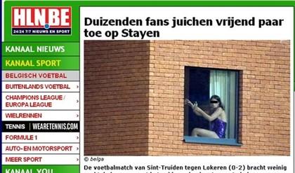 Cena de sexo ofusca jogo de futebol na Bélgica