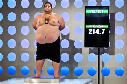 Alfredo é o concorrente que mais pesa nesta segunda edição do concurso