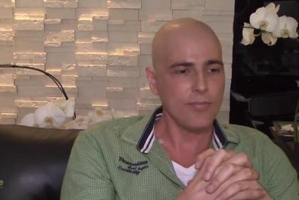 O actor gravou esta semana um depoimento para uma associação de luta contra o linfoma