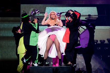 Britney Spears actuou para meio Pavilhão Atlântico