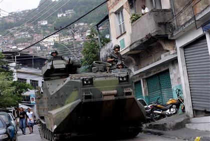 A operação policial na favela do Vidigal meteu artilharia pesada