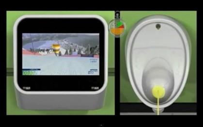 Jogo movido pela urina faz sucesso em bares londrinos