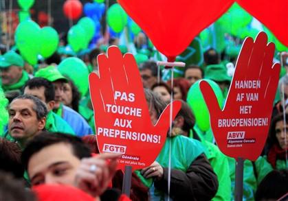 Milhares manifestaram-se em Bruxelas contra austeridade