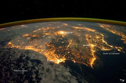 Imagem do dia da NASA é da Península Ibérica