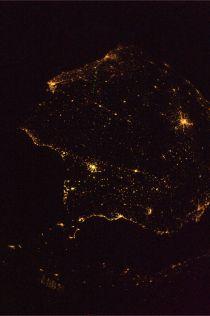 A fotografia que o astronauta fez da Península Ibérica