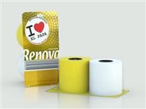 Rolos de papel higiénico para receber o Papa
