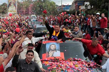 Chávez antes de deixar Caracas
