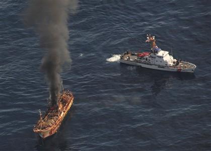 EUA afundam pesqueiro japonês à deriva desde o tsunami