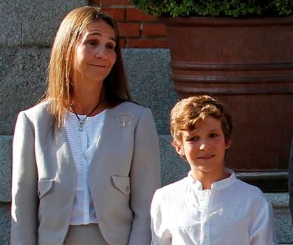A infanta Elena não estava com o filho quando ocorreu o acidente