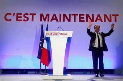 Hollande vence e é favorito à 2.ª volta de 6 de maio