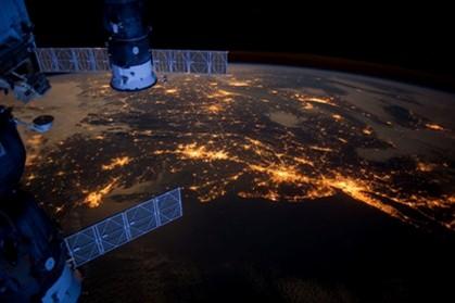 Vista da Estação Espacial Internacional (ISS)