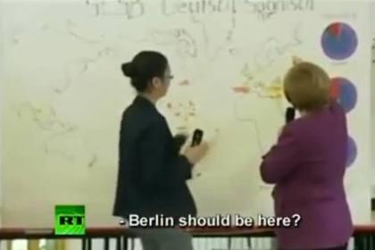 Merkel não sabe localizar Berlim no mapa da Alemanha