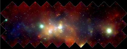 'Mosaico' da nossa galáxia Via Láctea captado pela Nasa. A nova teoria pode ajudar a explicar a chamada 'matéria escura' que a compõe