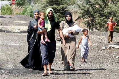 Refugiados sírios num campo da província de Kilis, na fronteira entre a Turquia e a Síria