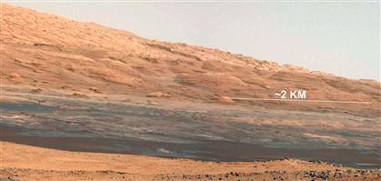 Imagem de Marte tirada pelo Curiosity