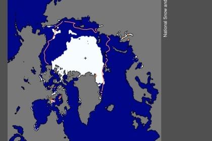 Calote do Ártico derrete a velocidade surpreendente