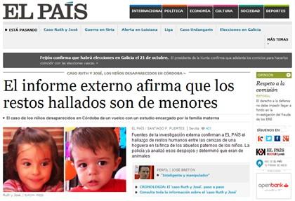Crianças desaparecidas desde Outubro estão mortas